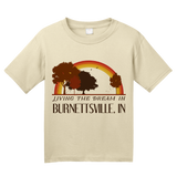 Youth Natural Living the Dream in Burnettsville, IN | Retro Unisex  T-shirt
