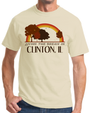 Standard Natural Living the Dream in Clinton, IL | Retro Unisex  T-shirt