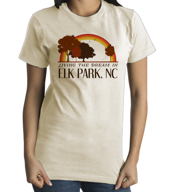Standard Natural Living the Dream in Elk Park, NC | Retro Unisex  T-shirt