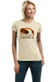 Ladies Natural Living the Dream in Elkport, IA | Retro Unisex  T-shirt