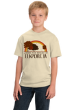 Youth Natural Living the Dream in Elkport, IA | Retro Unisex  T-shirt