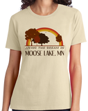 Ladies Natural Living the Dream in Moose Lake, MN | Retro Unisex  T-shirt