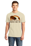 Standard Natural Living the Dream in Moose Lake, MN | Retro Unisex  T-shirt