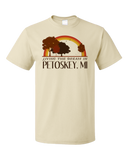 Standard Natural Living the Dream in Petoskey, MI | Retro Unisex  T-shirt