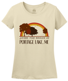Ladies Natural Living the Dream in Portage Lake, ME | Retro Unisex  T-shirt