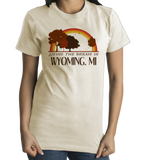 Standard Natural Living the Dream in Wyoming, MI | Retro Unisex  T-shirt