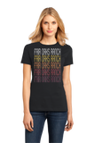 Ladies Black Fair Oaks Ranch, TX | Retro, Vintage Style Texas Pride  T-shirt