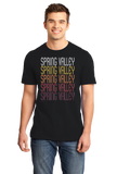 Standard Black Spring Valley, WI | Retro, Vintage Style Wisconsin Pride  T-shirt