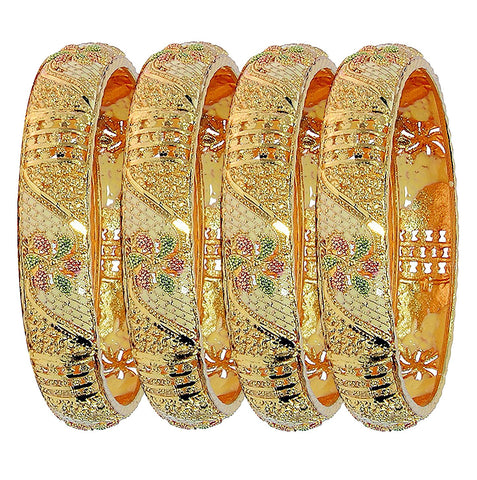 Gold Plated Bracelets Bangles Jewelry for Women Length: 6.0 Cm