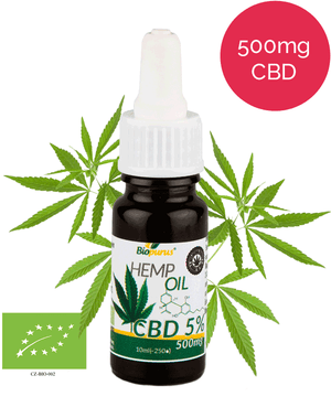 5% Organic CBD Oil (500mg in 10ml) Biopurus UK-for the Ageless