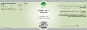 Royal Jelly Extract (600mg x 60 Capsules) G&G UK-for the Ageless