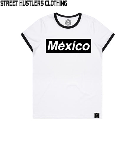 # México Supremo Women Tee (White/Black)