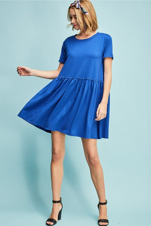 Ruched Detail Babydoll dress
