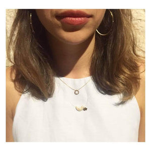 Invisible Clouds Fine Necklace - Moonstone necklace Uppermoda