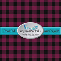 Maroon and Black Buffalo Plaid Vinyl