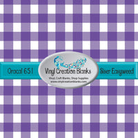Purple and White Buffalo Plaid Vinyl