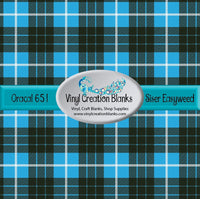 Aqua Black and White Plaid Vinyl