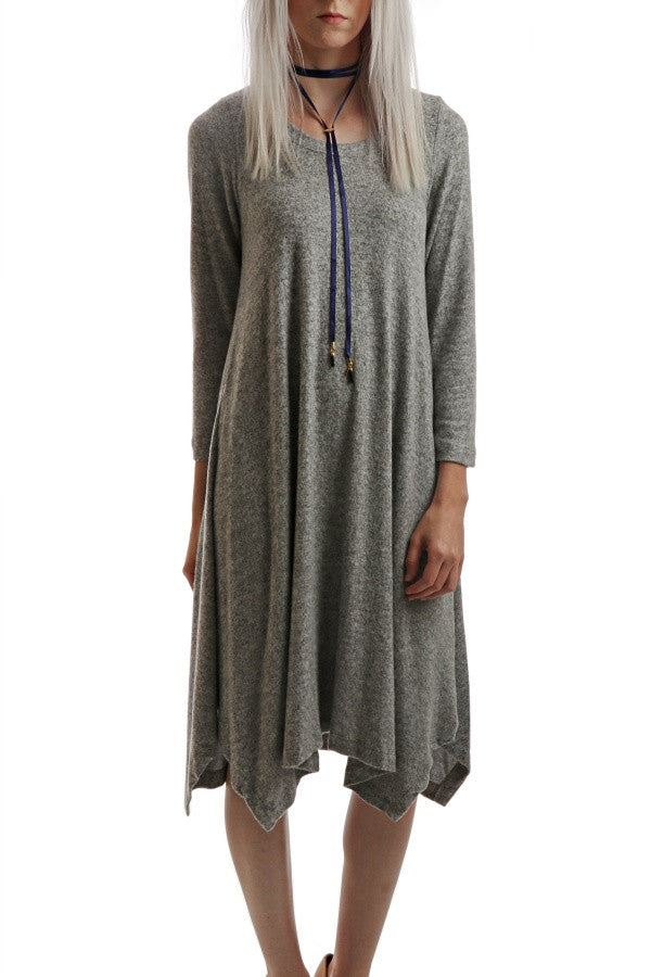 The Everything Midi Dress - Heather Grey