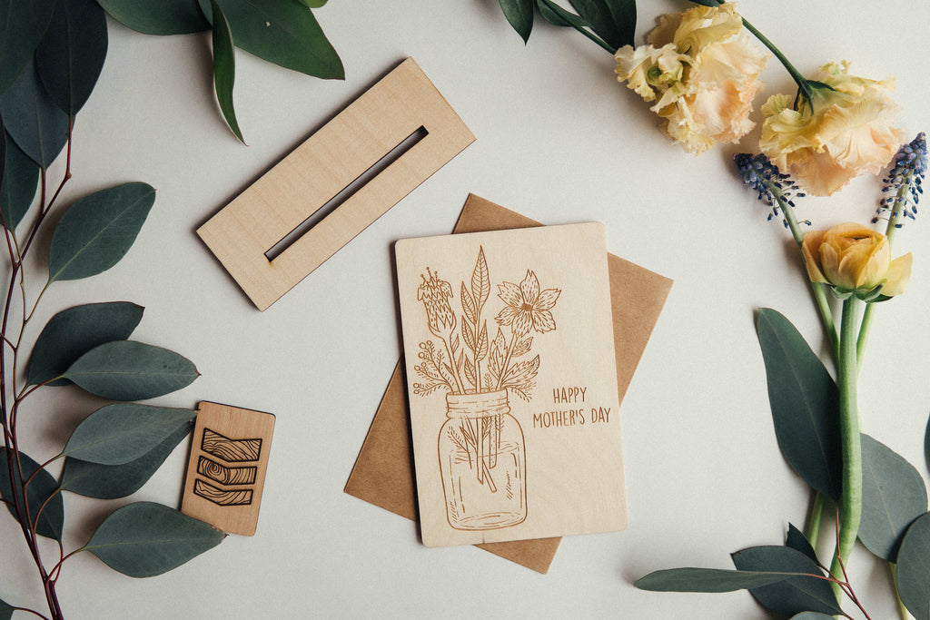 Happy Mother's Day Wooden Card