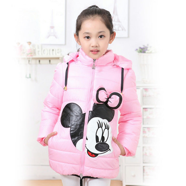 Winter Girls Jacket Cartoon Coat Cotton-Padded Girls Clothes Children's Clothing Coat Jacket For Girls Costume For kids Clothes