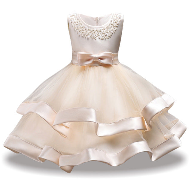 Children Costume Princess Dress For Girls Party Dresses Elegant Kids Wedding Gown Flower Girls Dress 2018 Summer Girls Clothing