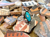 Vintage Feather Turquoise ring