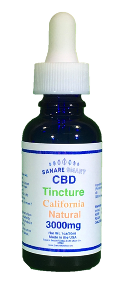 Sanare Smart California Natural CBD Tincture 3,000 mg