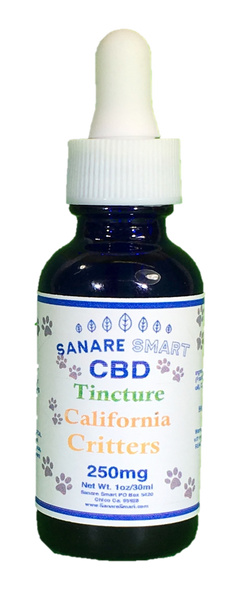 Sanare Smart California Critters Pet CBD Tincture 250 mg