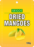DRIED MANGOES 100 bags x 100 grams (10 Kilo)