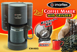 Imarflex Coffee Maker with Grinder ICM-950G