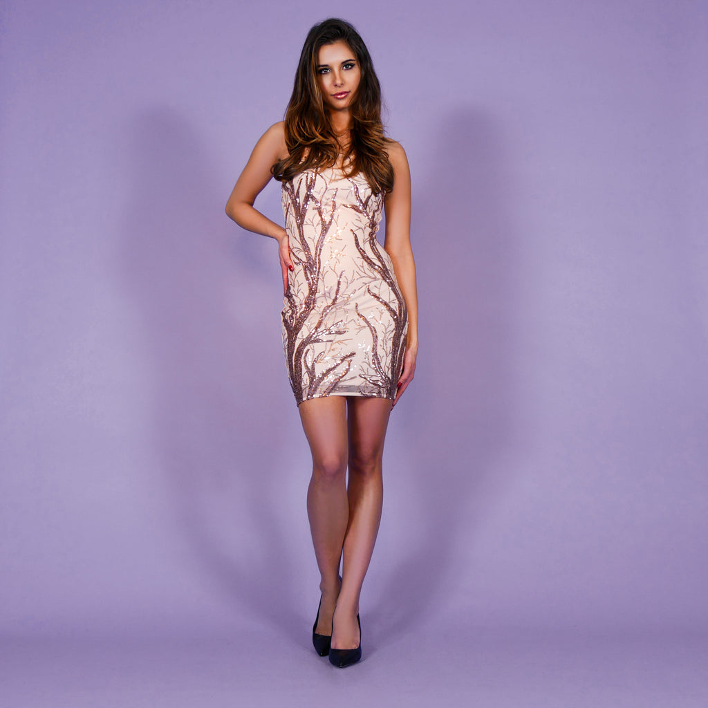 'Amber' Dress Rosegold