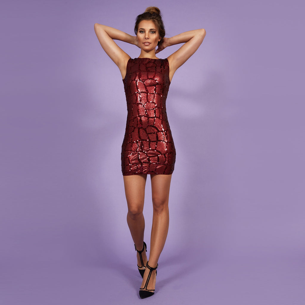 'Eva' Dress Red