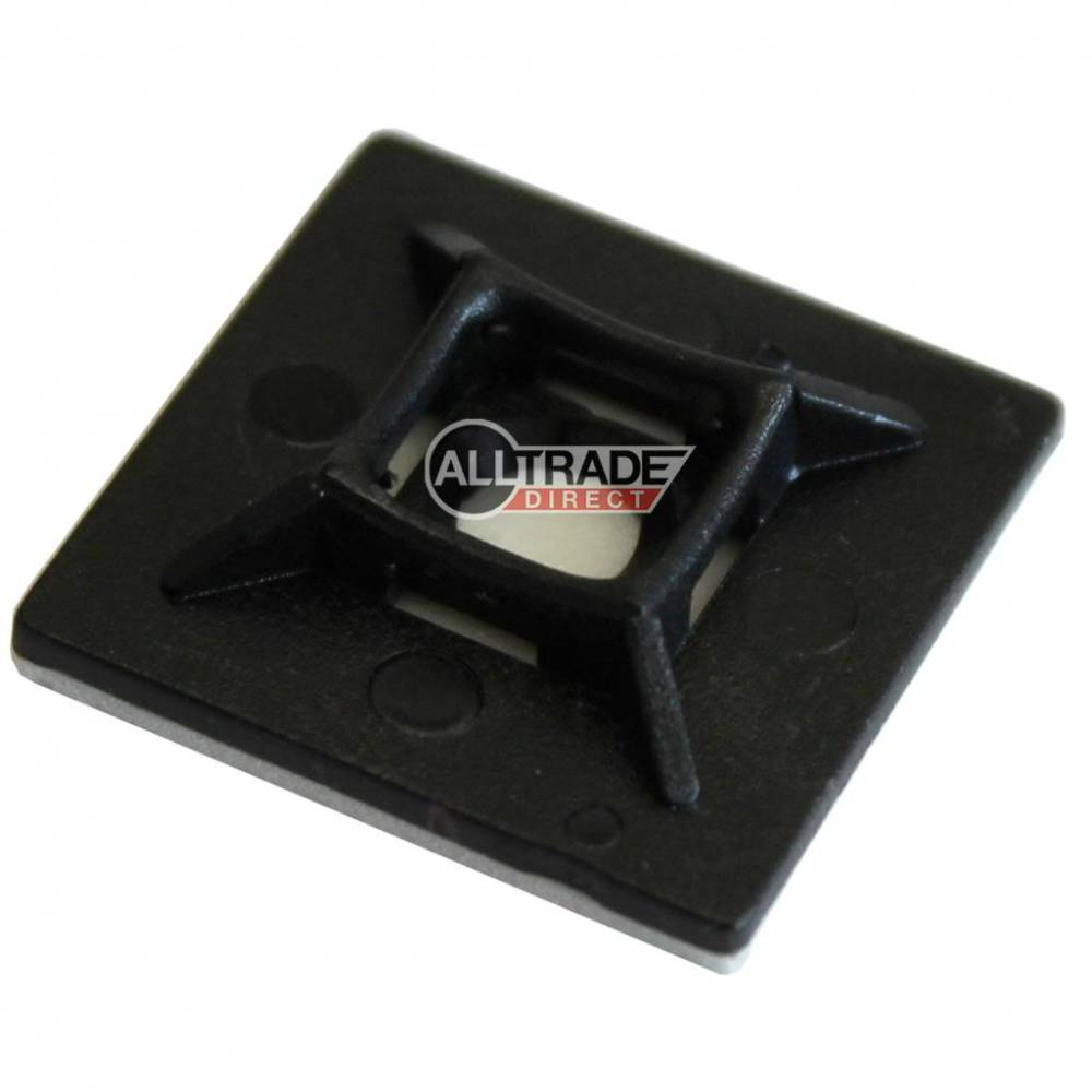28mm black cable tie bases