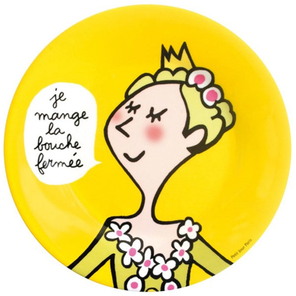 Princess Plate - I eat with my mouth closed - La Riviere Confiserie