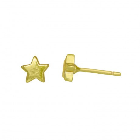 Lucky Star Earrings - Vermeil Gold - Carleton Varney