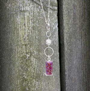 Memory Flower Jewelry | Long Crystal Drop Necklace