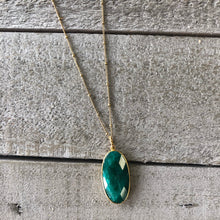 Load image into Gallery viewer, Gemstone Jewelry | Emerald Drop Necklace