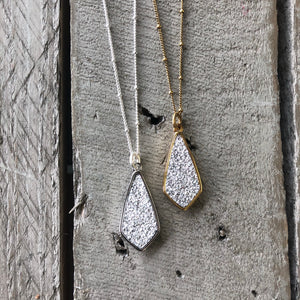 Druzy Jewelry | Diamond Necklace