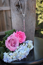 Load image into Gallery viewer, Memory Flower Jewelry | Long Narrow Bar Necklace