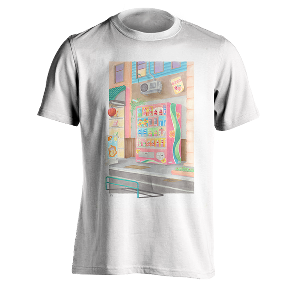 Pastel Vending Machine T-Shirt By Leo