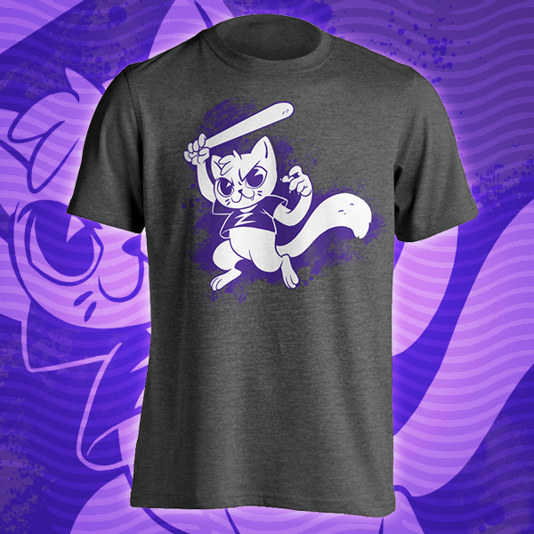 Zoey Cat With a Bat TTT T-shirt
