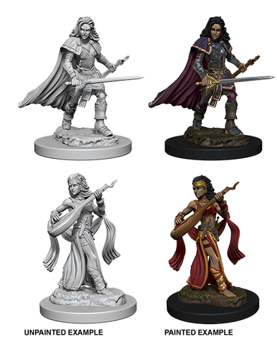 WZK72610 Human Female Bard (2 minis) - Pathfinder Deep Cuts