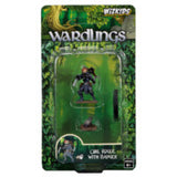 WZK73324 Girl Rogue and Badger: WizKids Wardlings Miniatures