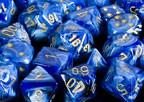 CHX27836 Vortex Blue with Gold 12mm d6 Dice Block(36 d6) - Leisure Games