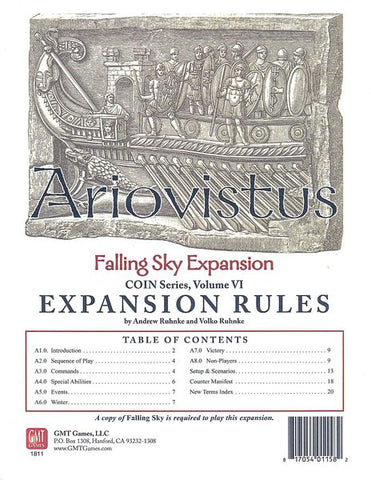 Falling Sky: The Gallic Revolt Against Caesar - Ariovistus (includes update kit)