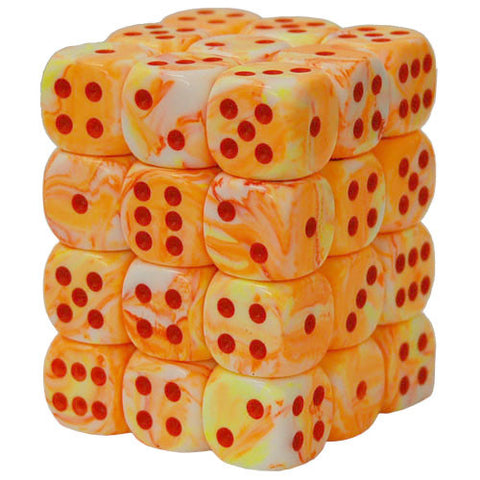 CHX27853 12mm d6 Dice Block: Festive Sunburst w/red (expected in stock on 16th July)