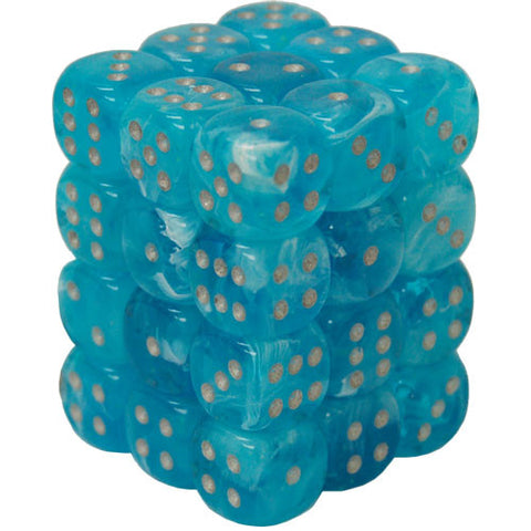 CHX27966 12mm d6 Dice Block: Luminary Sky w/silver (expected in stock on 16th July)