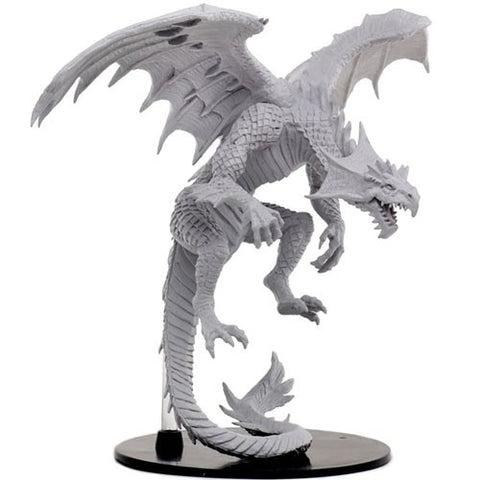 WZK73145: Gargantuan White Dragon: Pathfinder Battles Deep Cuts Unpainted Miniature
