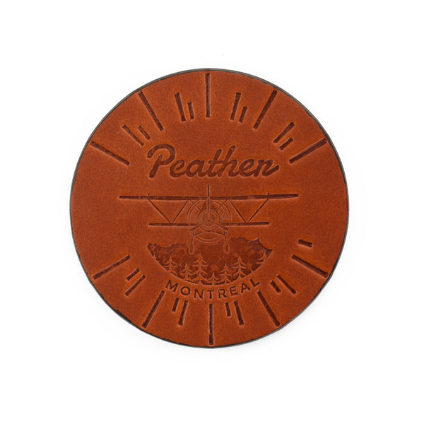 Montreal Chestnut Coaster Set