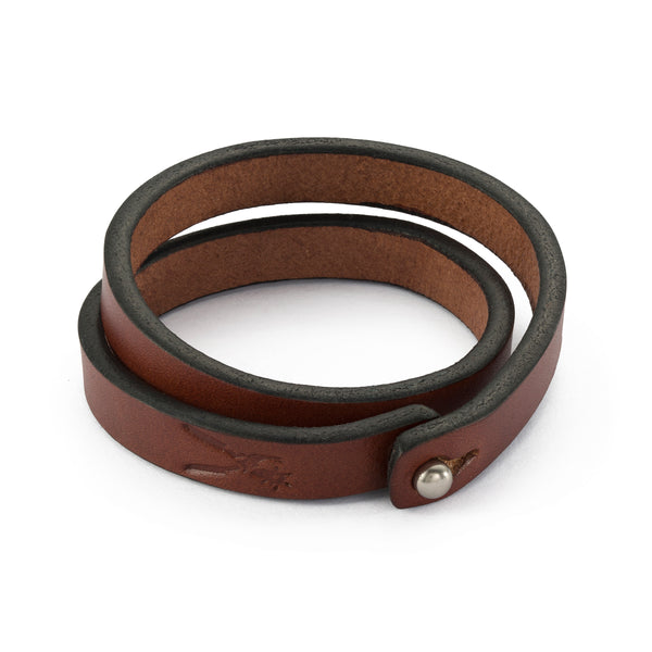 Medium Brown Double Wrap Bracelet
